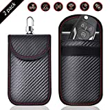 2 PACK Small Faraday Pouch For Car Keys, Car Key Signal Blocking Bag For Car, RFID Key Pouch Faraday Bag for Keyless Car,