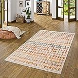 Pergamon Designer Teppich Valencia Vintage Bunt Karo in 5 Größen