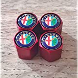 Speed Demons® ALFA ROMEO rouge roue Bouchons de valve casquettes exclusif de nous tous modèles GIULIA 4C GIULIETTA limitée MITO Capuchon de valve