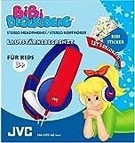 JVC HA-KD5-AE Bibi Blocksberg Edition Hochwertiger Stereokopfhörer für Kinder blau/rot