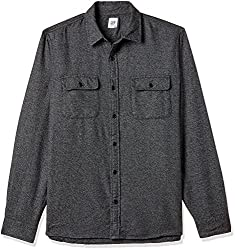 GAP Mens Casual Shirt (143022500032_35142000900_Large_Solid Black)