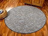 Memory Schlingen Teppich Grau Blau Meliert Rund in 7 Größen