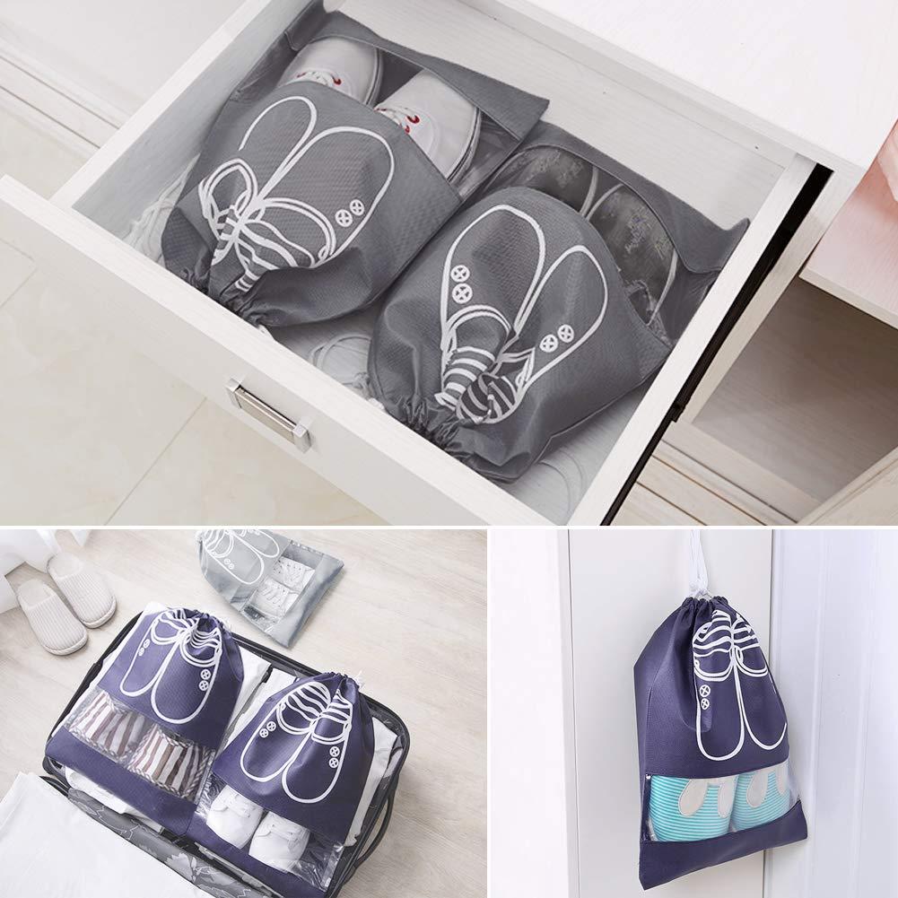 Multifunci/ón a Prueba de Polvo para Viajes LAMTWEK 8 Piezas Bolsas de Zapatos Bolsa Impermeable Telas no Tejidas con Ventana Transparente para Viajes y Hogar