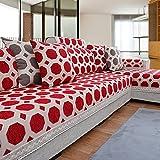 MEILI Dicke Chinesische, Vier Jahreszeiten, rot, Stoff, Sofa-Kissen, 1, 90 * 220
