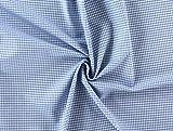 Baumwollstoff 2,5 mm Karo hellblau, Meterware ab 0,5 m /