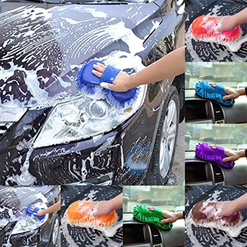 er Chenille Anthozoa-Auto-Reinigungs-Schwamm-Tuch-Tuch Auto Waschhandschuh-Auto-Waschmaschine Supplies Reinigungsturm fghfhfgjdfj ()