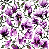 20 Servietten Magnolia - Magnolienblüten lila / Blüten / Blumen 33x33cm
