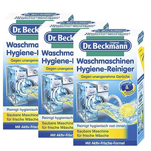 3x Dr. Beckmann Waschmaschinen Hygiene Reiniger 250g - Saubere Maschine für frische Wäsche