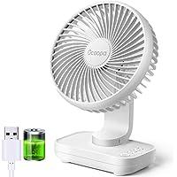 OCOOPA Ventilateur de Bureau USB, fonctionnant sur Batterie Rechargeable de 4000mAh, Ventilateur de Table 4 Vitesses…
