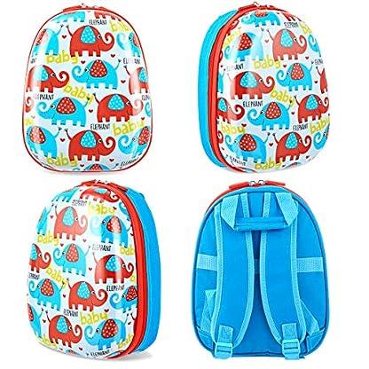 COSTWAY-2tlg-Kinderkoffer-Rucksack-Kofferset-Kindergepck-Reisegepck-Kindertrolley-Hartschalenkoffer-Blau