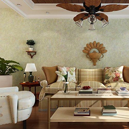 BBSLT Pianura pezzata di tessuto non tessuto, carta da parati in stile americano vintage floreale camera da letto soggiorno TV parete colore solido sfondo ,