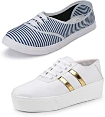 Earton Premium Quality Stylish & Designer Casual Sneakers Shoes for Women Size: 4 (Colour: Multicolor) _36