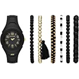 Skechers Women's Three-Hand Silicone Quartz Watch, Color: Pink (Model: SR9020)