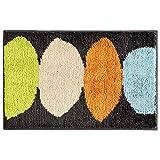 DUXX Rutschfeste Mikrofaser-Teppich, Anti-Skid-Teppich Perfekt Für Wohnzimmer & Schlafzimmer, Bad, Küche,Gray,80 * 120