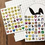 NOVSIX 16 Pack Emoji Aufkleber Set, Instagram, Facebook, Twitter, iPhone Emoji Aufkleber, 2 Größen Test
