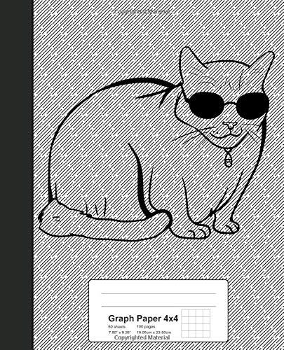 Graph Paper 4x4: Book Turkish Van Cat (Weezag Graph Paper 4x4 Notebook, Band 278)