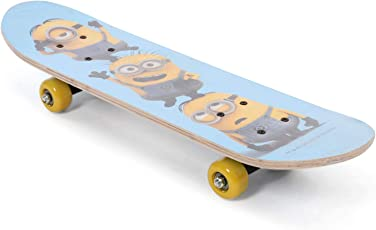 My Baby Excels Printed Minion Trio Skateboard for Kids, 5 Years onward (Multicolour)