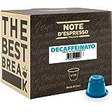 Note D'Espresso Cápsulas de Café Descafeinado exclusivamente compatibles con afeteras Nespresso* - 100 Unidades de 5.6g, Tot