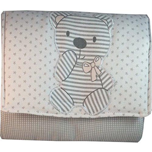 bebe-per-borsa-di-stoffa-macchie-grigio-con-orso-applicazione