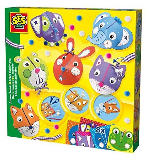 ses-creative-14536-gioco-mascherine-di-carta-animali