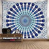 Bleu Bohemian Tapestry,Murales Indiennes,Indien Mandala Tenture ,DéCoration De La Maison Tapisseries,Tapis De Yoga De MéDitation En Nappe De Coton Tapis De Plage (59.1'*51.2') Multicolore ,B