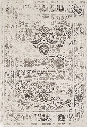 havatex Moderner Teppich Casablanca 13 - Farbe wählbar | schadstoffgeprüft pflegeleicht robust strapazierfähig und schmutzabweisend | für Wohnzimmer, Schlafzimmer, Farbe:Creme, Größe:80 x 150 cm -