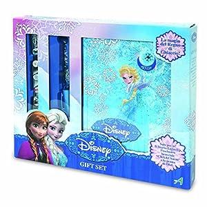 Disney Frozen - Set con Caja de Regalo Diario, Pluma y Pulsera (Giochi Preziosi 70874071)