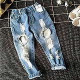 Zooarts Unisex-Jeanshose für Jungen und Mädchen von 2–6 Jahren, mit gebrochenem Loch, Multi, 90 (2T)