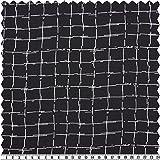 Crêpe, Karomuster, schwarz/weiß, 150 cm breit, Meterware