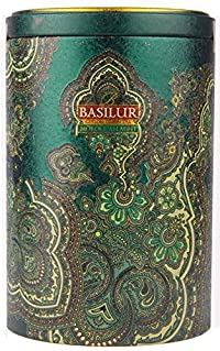 Basilur Pure Ceylon Green Tea 'Morrocan Mint' Oriental Collection with flavour Moroccan mint in the Metal Caddy 100g