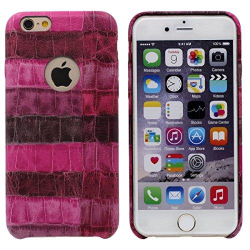iPhone 6S Plus Coque Case de Protection Peau de serpent Apparence, Dur Housse Etui pour Apple iPhone 6 Plus 5.5�?- Bleu, Ultra Léger et Fine Anti choc Rose
