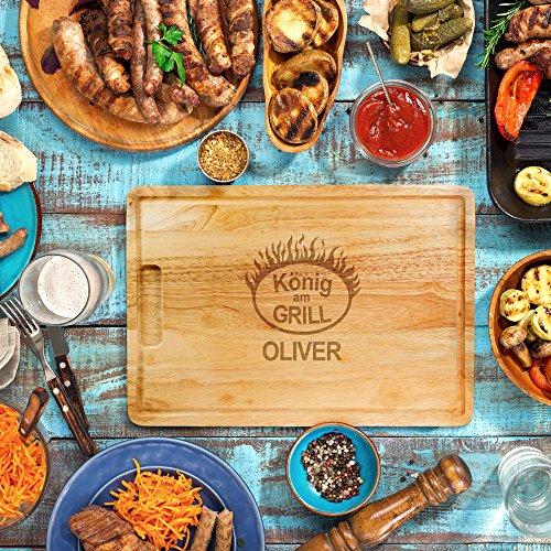 61zpXsxP8KL - Kitchen Rockstars Grillset – BBQ Brandeisen mit wechselbaren Buchstaben – Schneidebrett – König am Grill – Personalisiert mit [Namen] – Branding – Grillzubehör – Männergeschenke – Vatertagsgeschenke