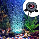 Yunt IP68 Aquarium LED Beleuchtung Luftblase 12 Multi-Farben RGB LED für Aquarien Aquariumleuchte 5050MD Fish Tank Ligh