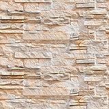 murando - Fototapete selbstklebend 10m - 3D Tapete - Wandtattoo - dekorative Möbelfolie - Dekorfolie - Fotofolie - Panel - Wandaufkleber - Wandposter - Wandsticker - Steinoptik Steinwand f-B-0216-an-a