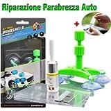 JTENG Kit Riparazione Parabrezza Auto,Professione Kit Riparazione Vetro, Resina Glass Repair Kit Auto Finestra Bicchiere…