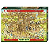 Heye 29833 Monkey Habitat Standard 1000 Teile, Marino Degano, Funky Zoo, Brown