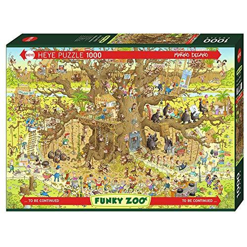 Sieben Für Alle Menschheit Größen (Heye 29833 Monkey Habitat Standard 1000 Teile, Marino Degano, Funky Zoo, Brown)