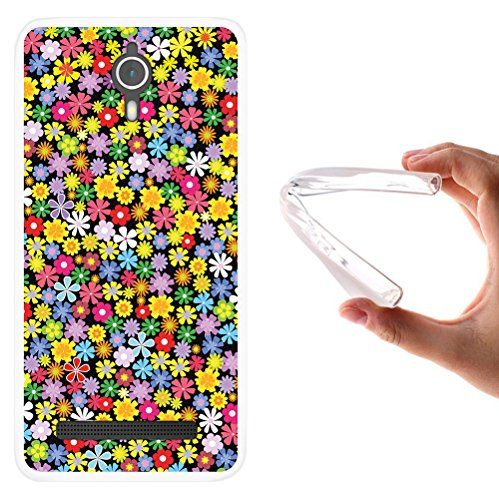 WoowCase Coolpad Porto S Hülle, Handyhülle Silikon für [ Coolpad Porto S ] Blumen Handytasche Handy Cover Case Schutzhülle Flexible TPU - Transparent