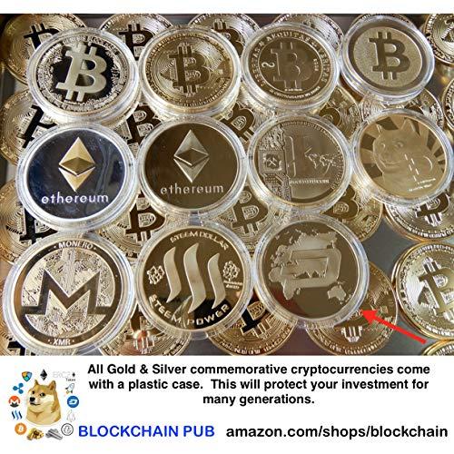 Gold Bitcoin Commemorative Gold Plated Round Copper Coin