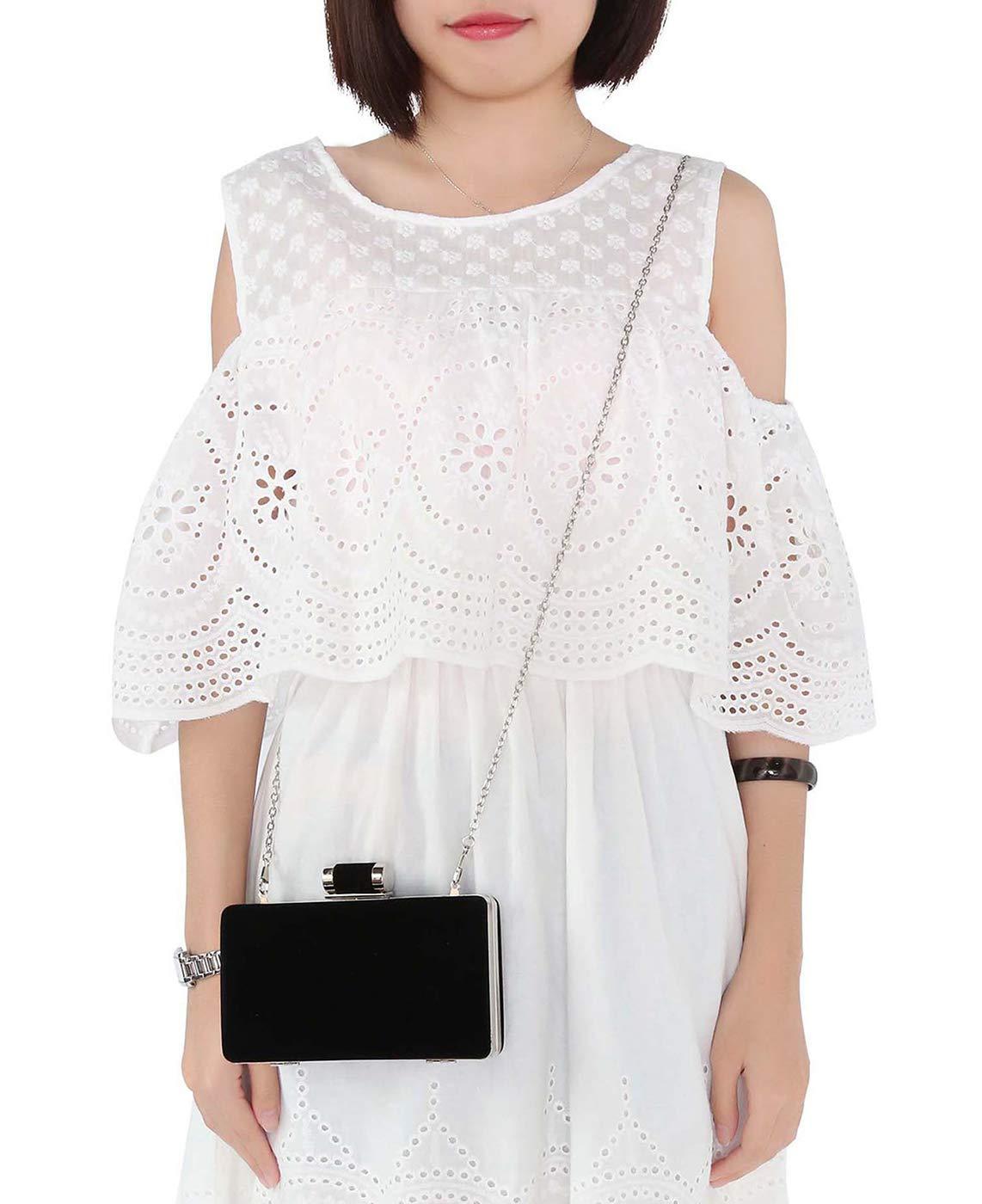 61zpnvZsJjL - BAIGIO Bolsa de Noche Mujer Elegante Bolso de Mano Bolso Clutch de Embrague Monedero de Terciopelo para Mujeres y…