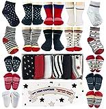 Baby Antirutsch Socken für Jungen, ABS Socken, super Geschenk für Junge im Alter von 1-3 Jahre, 6 Paar mit Antirutsch Noppen Von Tiny Captain