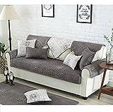 M&XGF Plüschsofa Slipcover,1 Stück Vintage Wildleder Couch Cover Anti-Rutsch-möbel Protektor Für Kissen Sofas-A 70x150cm(28x59inch)
