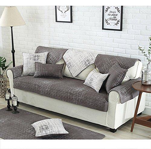 Elegant copridivano con penisola/fodera per divano peluche,1 pezzo vintage in pelle scamosciata divano copertura antiscivolo mobili di protezione per divani cuscini-a 70x150cm(28x59inch)