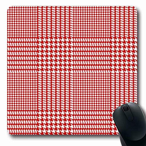 Mauspads Glen Pattern Houndstooth Geometric Abstract Plaid Mäntel Tartan Autumn Checker Checkered Checks Design Längliche Form rutschfeste Gaming Mouse Pad Gummi Längliche Matte,Gummimatte 11,8
