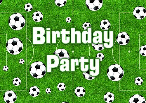 (Fußball-Thema-Geburtstags-Party Einladungen Einladungen Kinder Kinder Mädchen/Jungen i010)