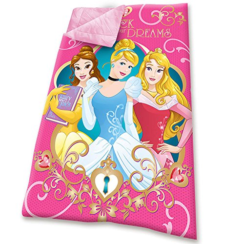 Kids Euroswan Schlafsack mit Prinzessinnen Design, Polyester, Pink, 140 x 70cm