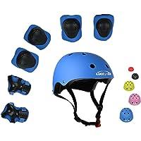 UniqueFit Lucky-M Bambini 7 Pezzi di Sport Outdoor Gear Set Bambine da Ciclismo Casco di Sicurezza e Set [Ginocchiere, gomitiere e polsiere] Rullo per Scooter Skateboard Bicicletta ( 3 - Anni Old )