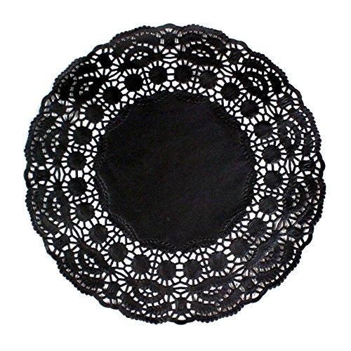 Garcia de Pou 250Einheit rund Deckchen, 9cm, Papier, schwarz, 9x 30x 30cm (Papier Deckchen Schwarz)