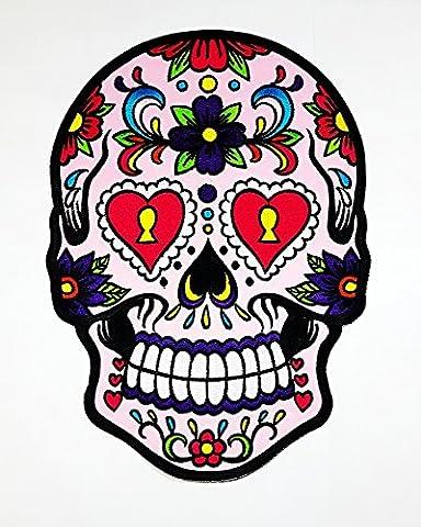 Rabana XXL Sunny Buick Fleur Rose Tête de mort Yeux Cœur Art Tattoo Patch coudre fer brodé sur badge Sign fantaisie