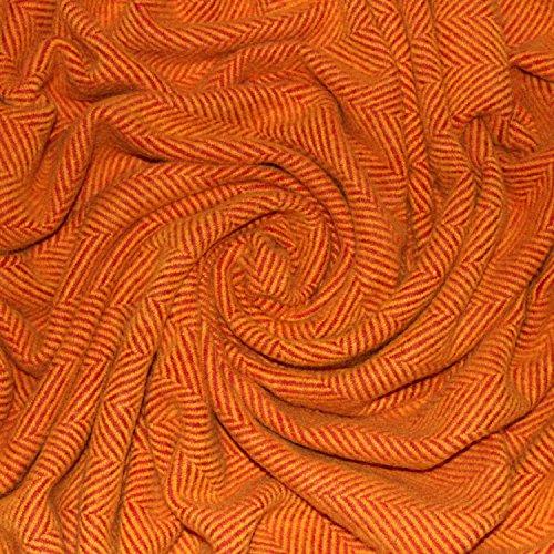 LORENZO CANA High End Luxus Wolldecke aus flauschiger Wolle Wohndecke Cottage Landhaus Decke 100% Wolle Sofadecke Picknickdecke Kuscheldecke Plaid 130 cm x 200 cm 96157